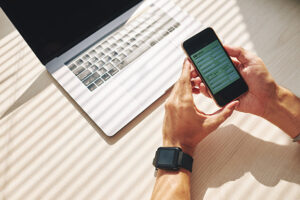 Besøk nettbanken på mobilen